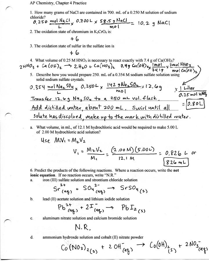 AP Chemistry homework