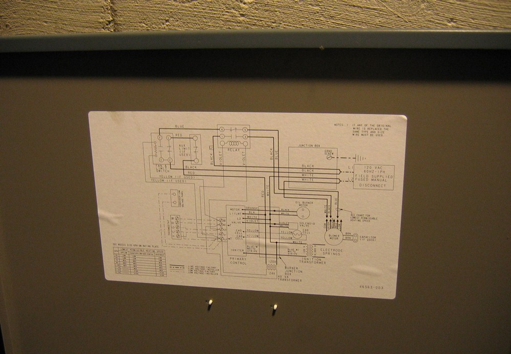 wiring for oil furnace fuel oil furnace diagram